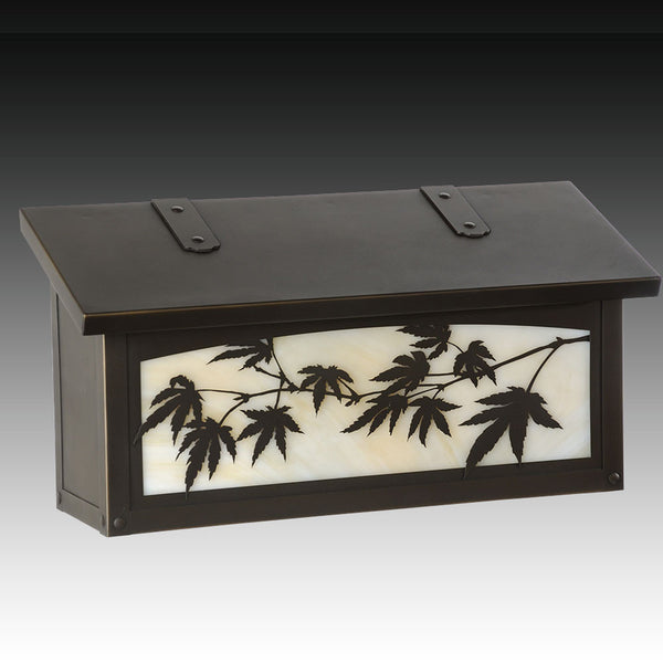 Japanese Maple Wall Mounted Mailbox - Horizontal
