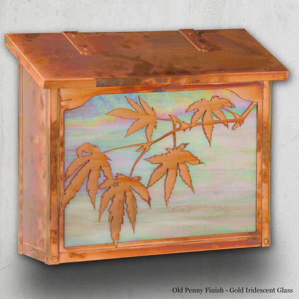 Japanese Maple Wall Mounted Mailbox - Large