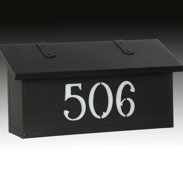 Classic House Numbers Horizontal Wall Mount Mailbox