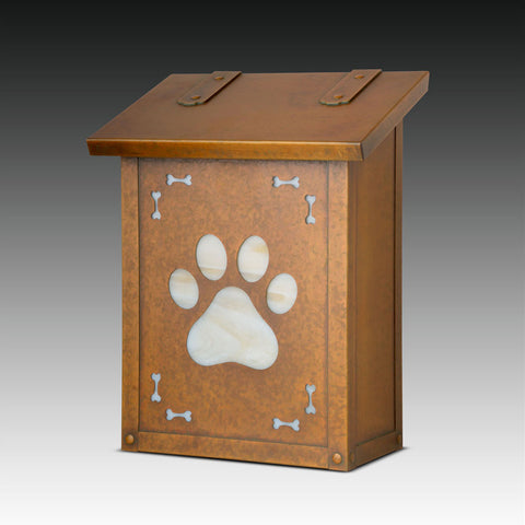 Dog Paw Wall Mounted Mailbox - Vertical