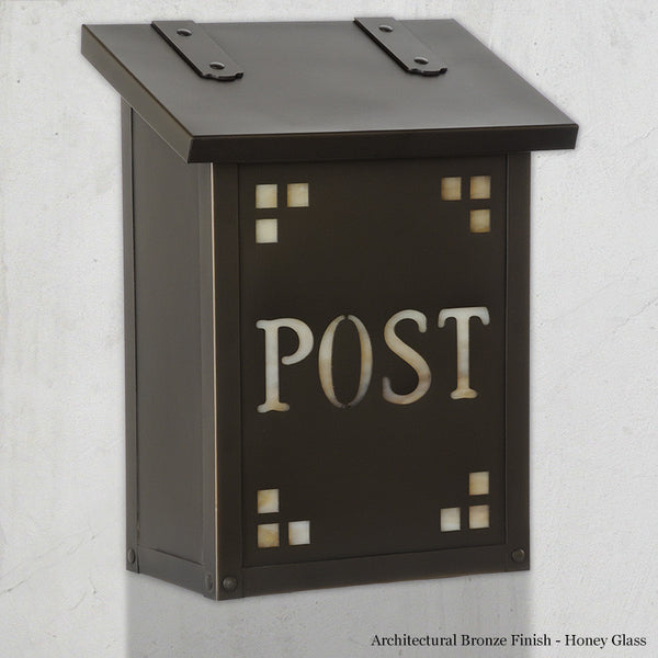Pasadena Post Wall Mounted Mailbox - Vertical