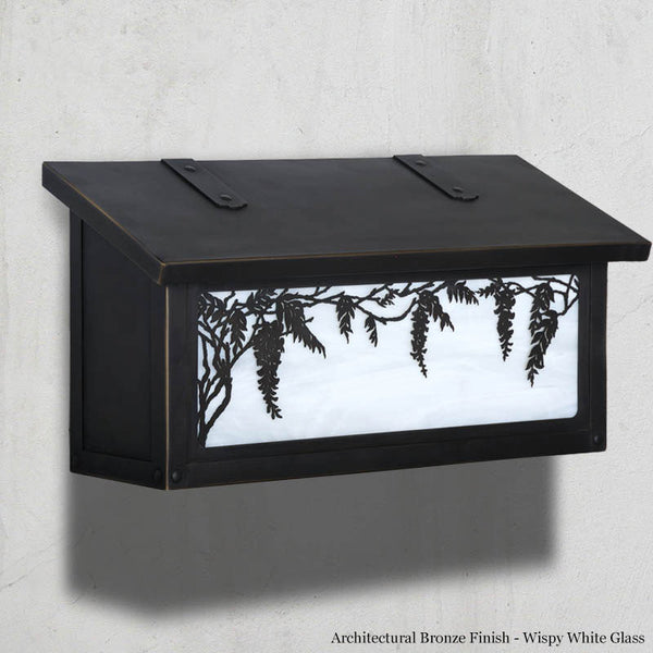 Wisteria Wall Mounted Mailbox - Horizontal