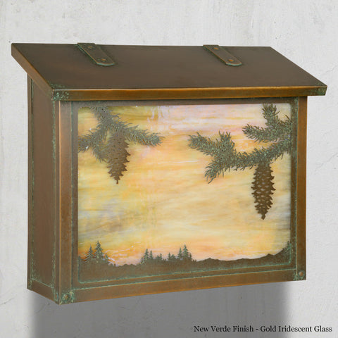 Spruce Wall Mounted Mailbox - Large