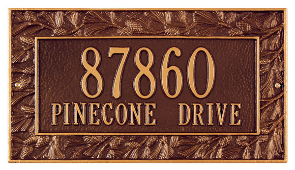 Pinecone Frame Plaque Standard Wall Two Line