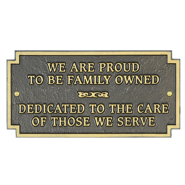 Family Owned Plaque