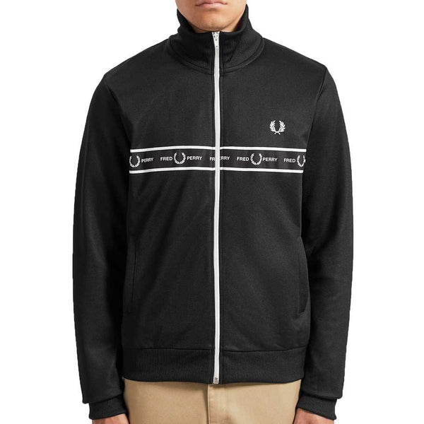 Fred Perry Taped Chest Track Jacket - Black J7501