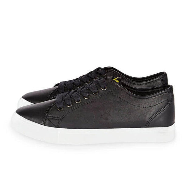 Lyle and Scott Teviot Leather Trainers - Black - so-ldn