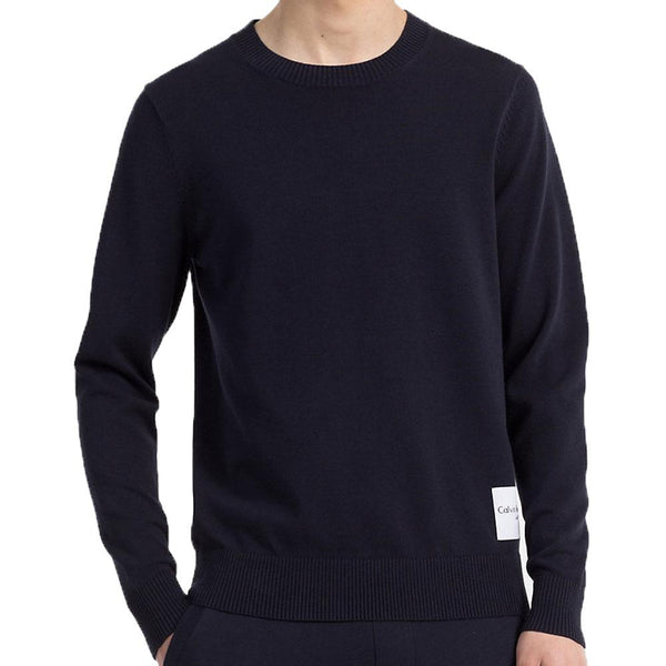 Calvin Klein Jeans Mens Slim Cotton Blend Sweater - Navy - so-ldn
