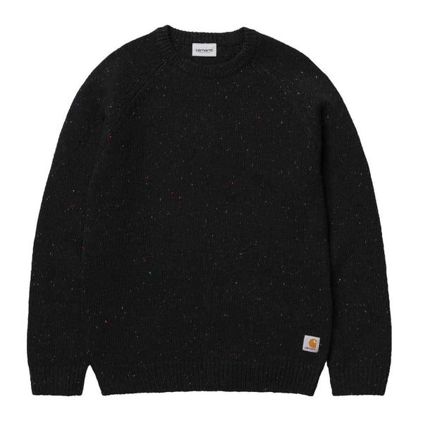 Carhartt WIP Anglistic Sweater - Black Heather - so-ldn
