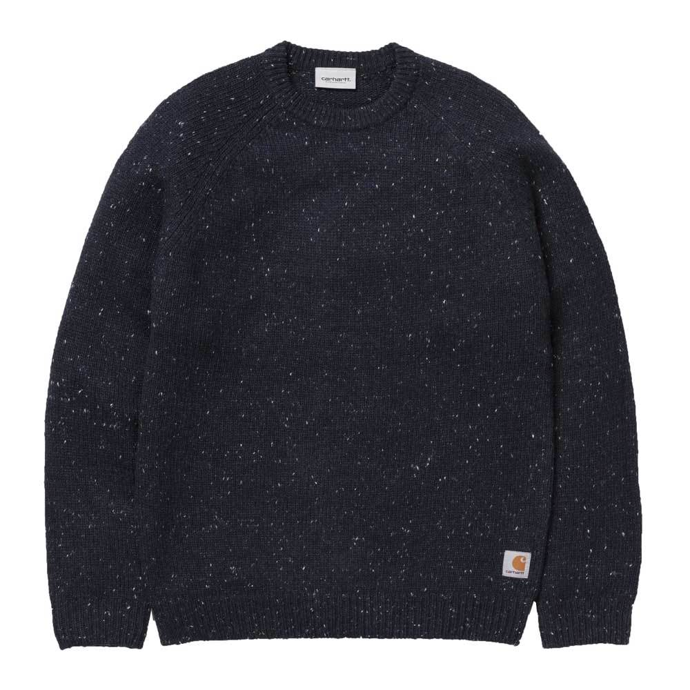 Carhartt WIP Anglistic Sweater - Dark Navy Heather - so-ldn