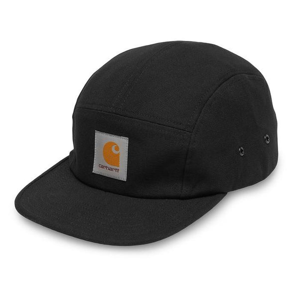 Carhartt WIP Backley 5 panel Snapback Cap - Black - so-ldn