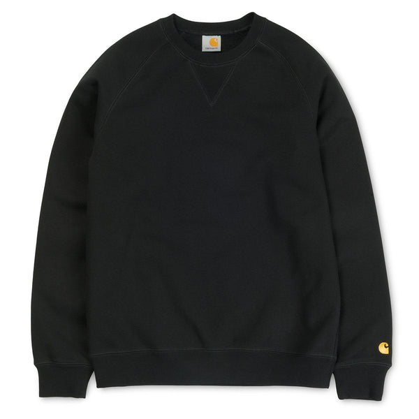 Carhartt WIP Chase Crewneck Sweatshirt - Black - so-ldn