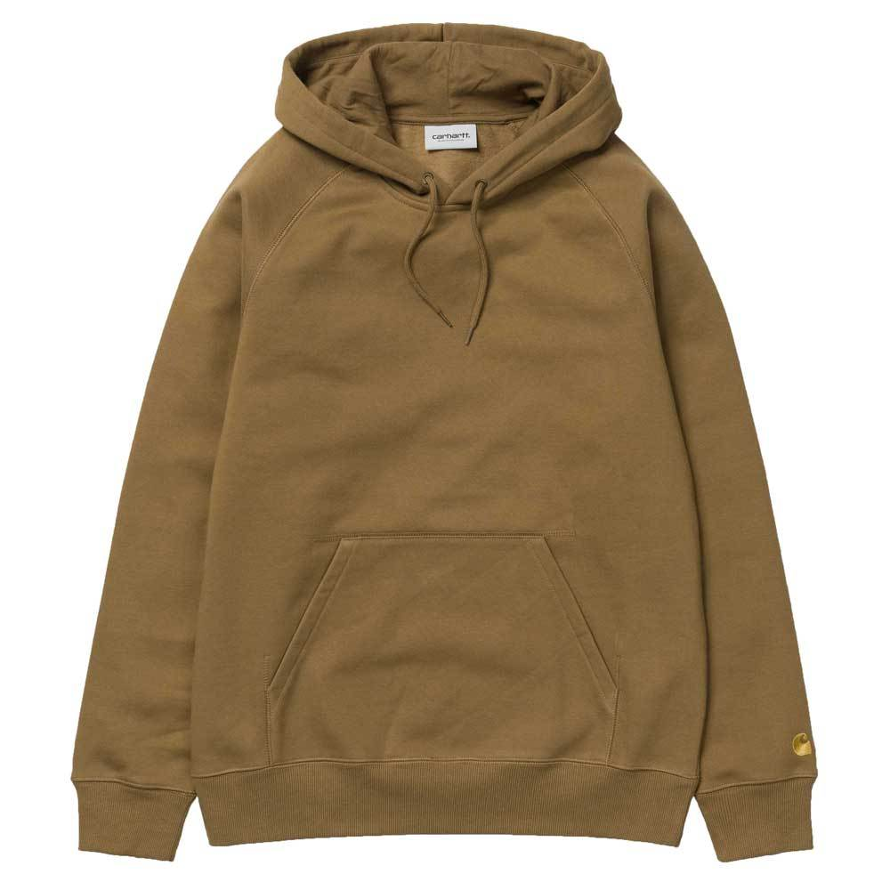 Carhartt WIP Chase Pullover Hoodie - Hamilton Brown - so-ldn
