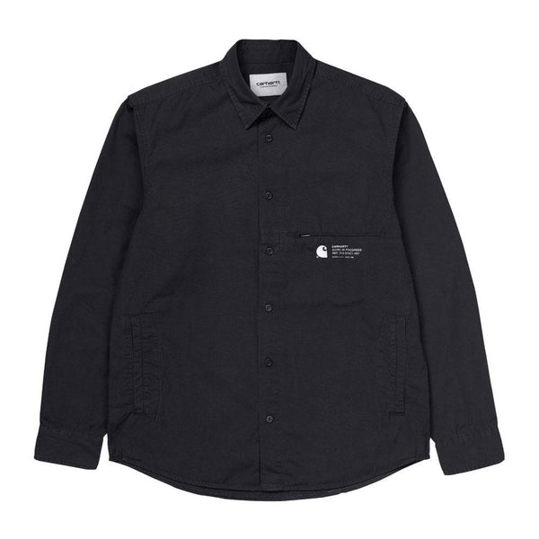 Carhartt WIP Long Sleeve  Coleman Shirt- Black - so-ldn