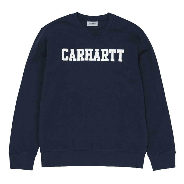 Carhartt WIP College Sweatshirt - Dark Navy / White - so-ldn