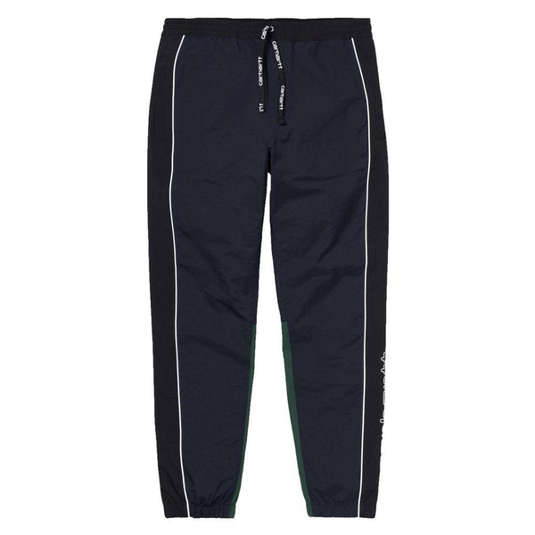 Carhartt WIP Mens Terrace Pants Joggers - Dark Navy / Black / Bottle green - so-ldn