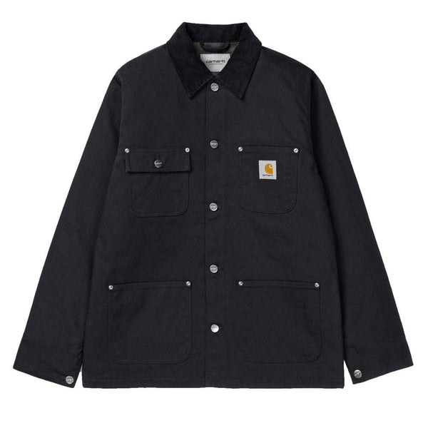 Carhartt WIP Michigan Lined Chore Coat - Black / Rigid - so-ldn