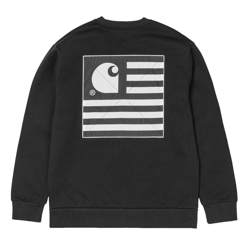 10eac064 Carhartt WIP State Patch Sweatshirt - Black - so-ldn