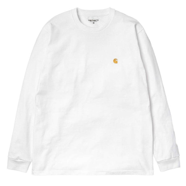 Carhartt WIP Long Sleeve Chase T-Shirt - White - so-ldn