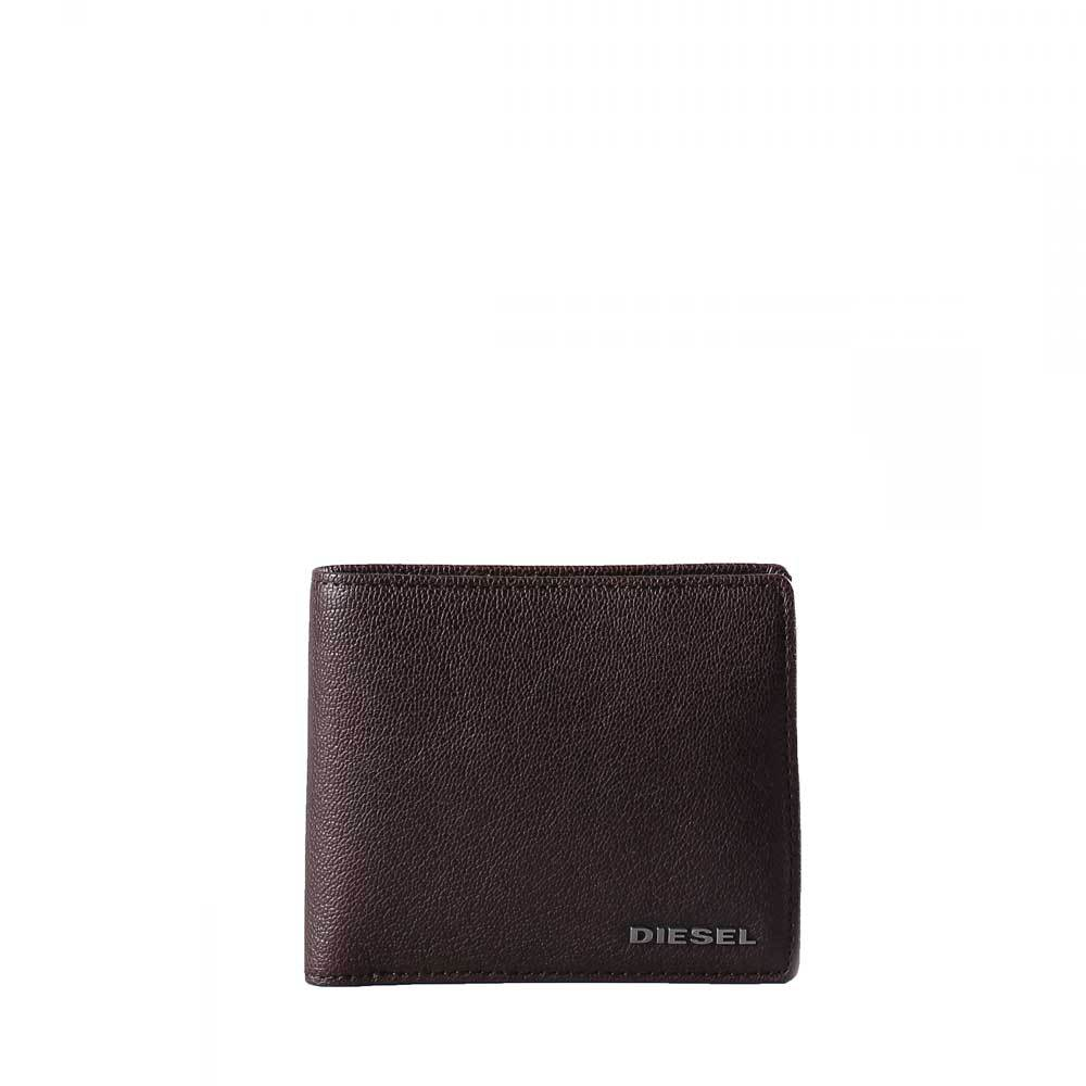 DIESEL Mens Hiresh S grained leather wallet - Brown - so-ldn