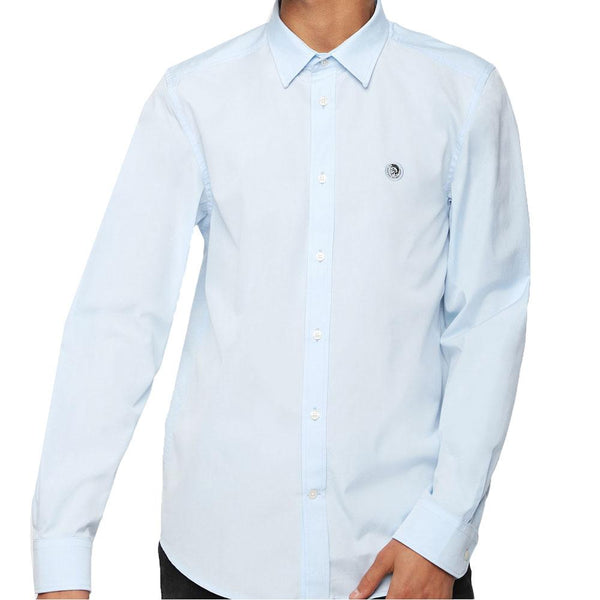 DIESEL S-Bill Cotton Shirt -  Blue - so-ldn