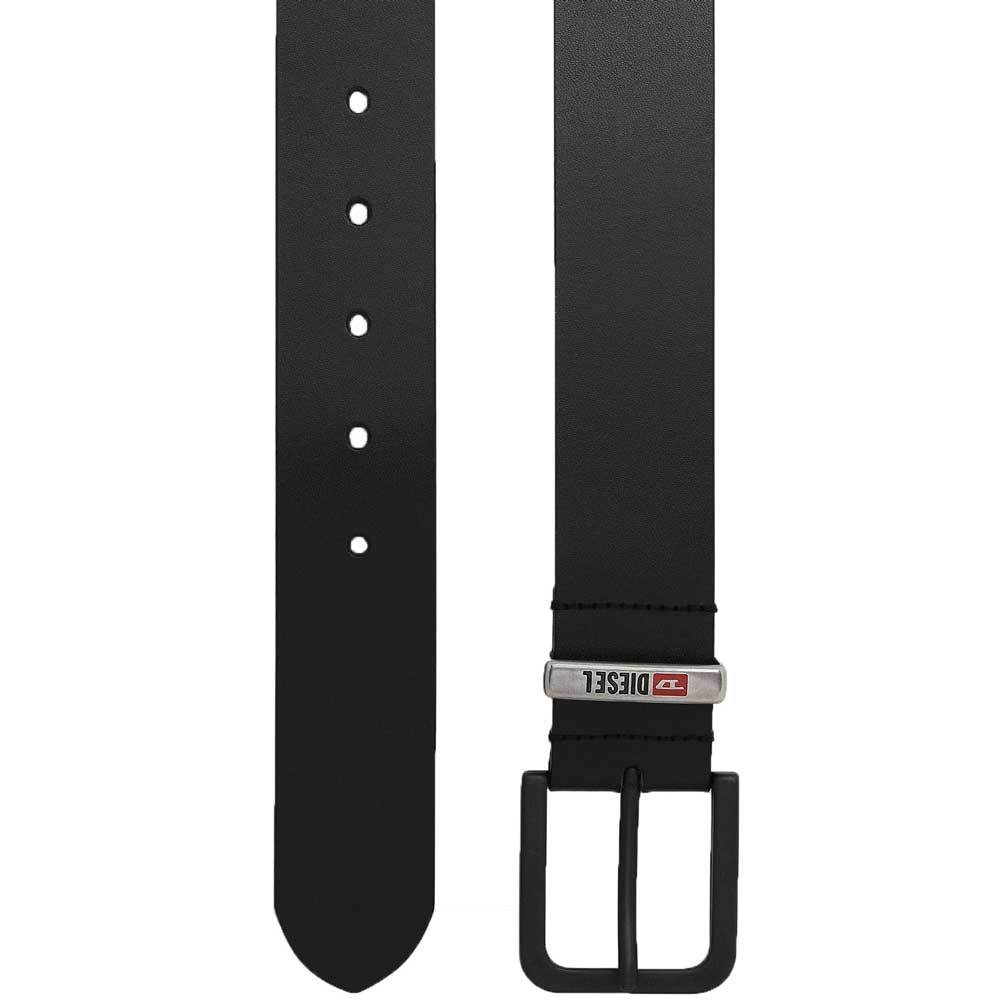 Diesel B-CASTEL Leather Belt  - Black