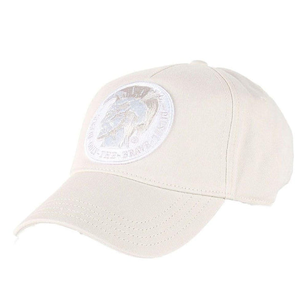 Diesel Cindians Baseball Regular Fit Cap - Cream - so-ldn