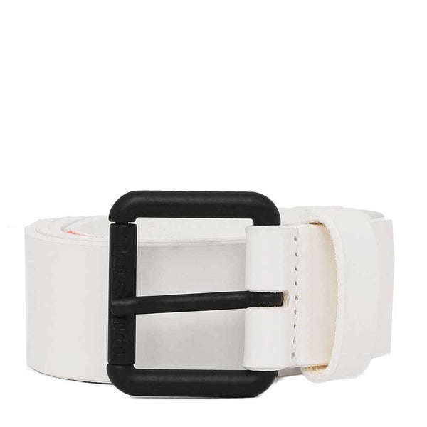 Diesel B-Line Fluo Leather Belt - White - so-ldn