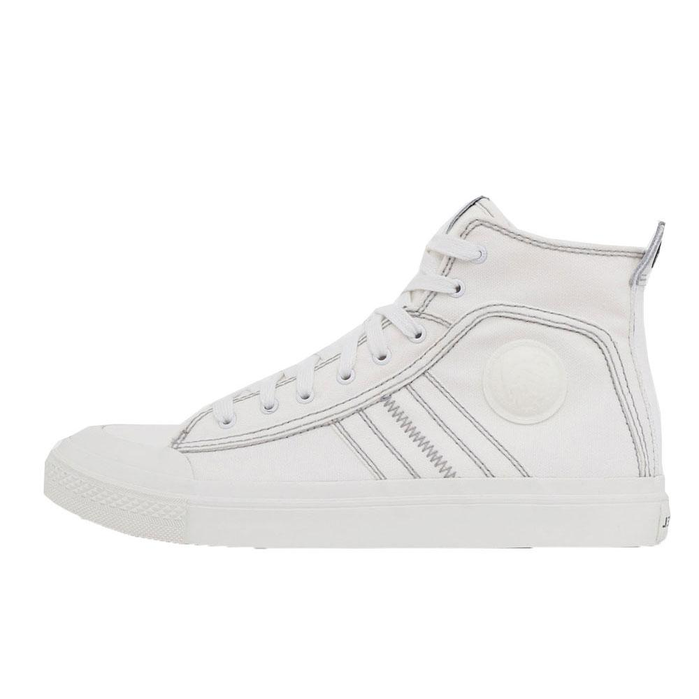 Diesel  S-Astico Mid Lace  Hi Top Trainers - White - so-ldn