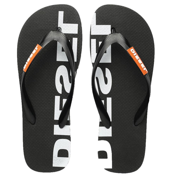 Diesel SA Briian Flip Flops Sandals  -  Black - so-ldn