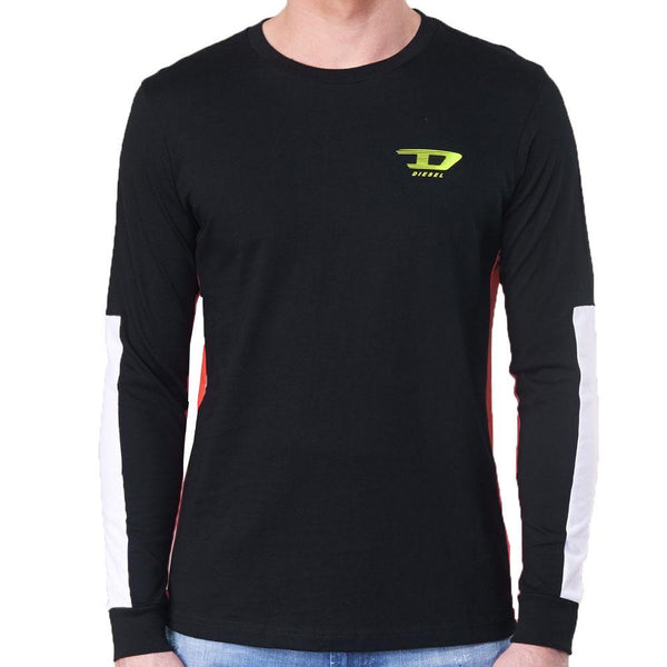 Diesel T-HARUS Long Sleeve T Shirt - Black - so-ldn