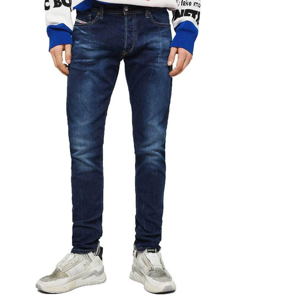 Diesel Tepphar 083AT Slim Fit Carrot Jeans - Dark Blue
