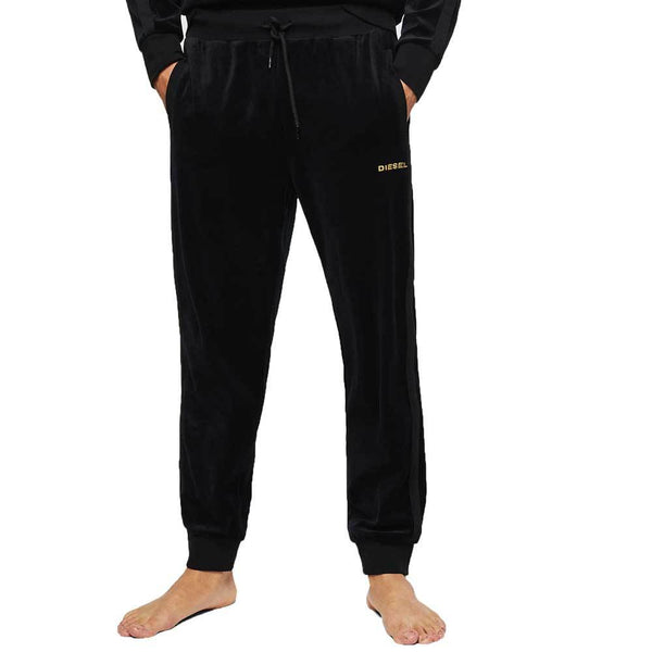 Diesel UMLB-Darren-CH Velvet Sweat Pants - Black
