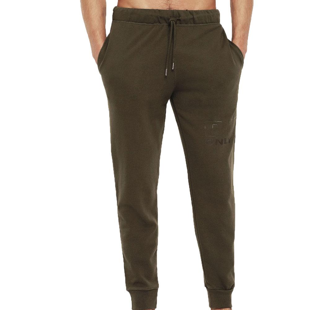 Diesel UMLB Peter Logo Jogging Bottoms - Military Green - so-ldn