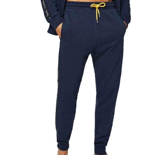Diesel UMLB-PETER Sweatpants side stripe - Navy / Yellow