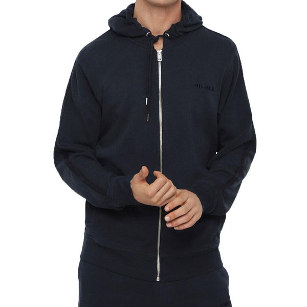 Diesel Brandon - Z Logo Lounge Hooded Zip Sweat - Navy - so-ldn