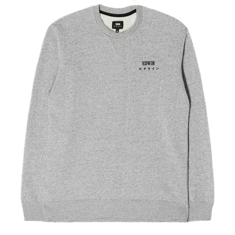 Edwin Base Crew Sweatshirt - Grey - so-ldn