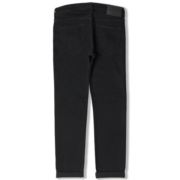 Edwin ED-80 Slim Tapered Jeans - CS White Listed Black Selvage Stretch  Denim - d89305605d21