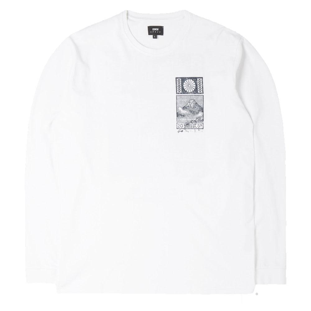 Edwin From Japan With Love Long Sleeve T Shirt - White - so-ldn