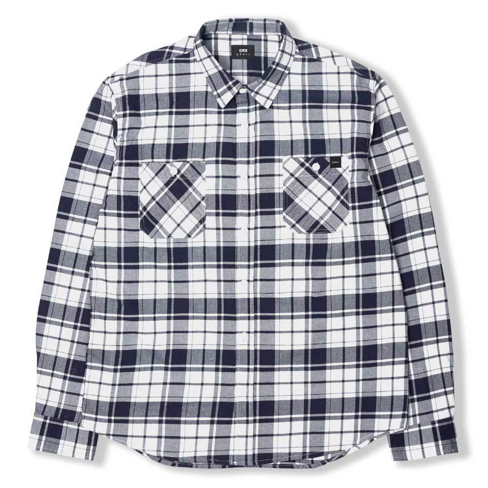 Edwin Labour Shirt - Navy / White - so-ldn