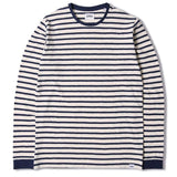 Edwin Tokyo Blues Long Sleeve T-shirt - Off White / Navy - so-ldn