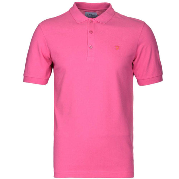 Farah Blaney Short Sleeve Polo Shirt - Azealia Pink F4KS5050GP - so-ldn