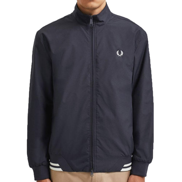 Fred Perry Brentham Harrington Jacket - Navy J100