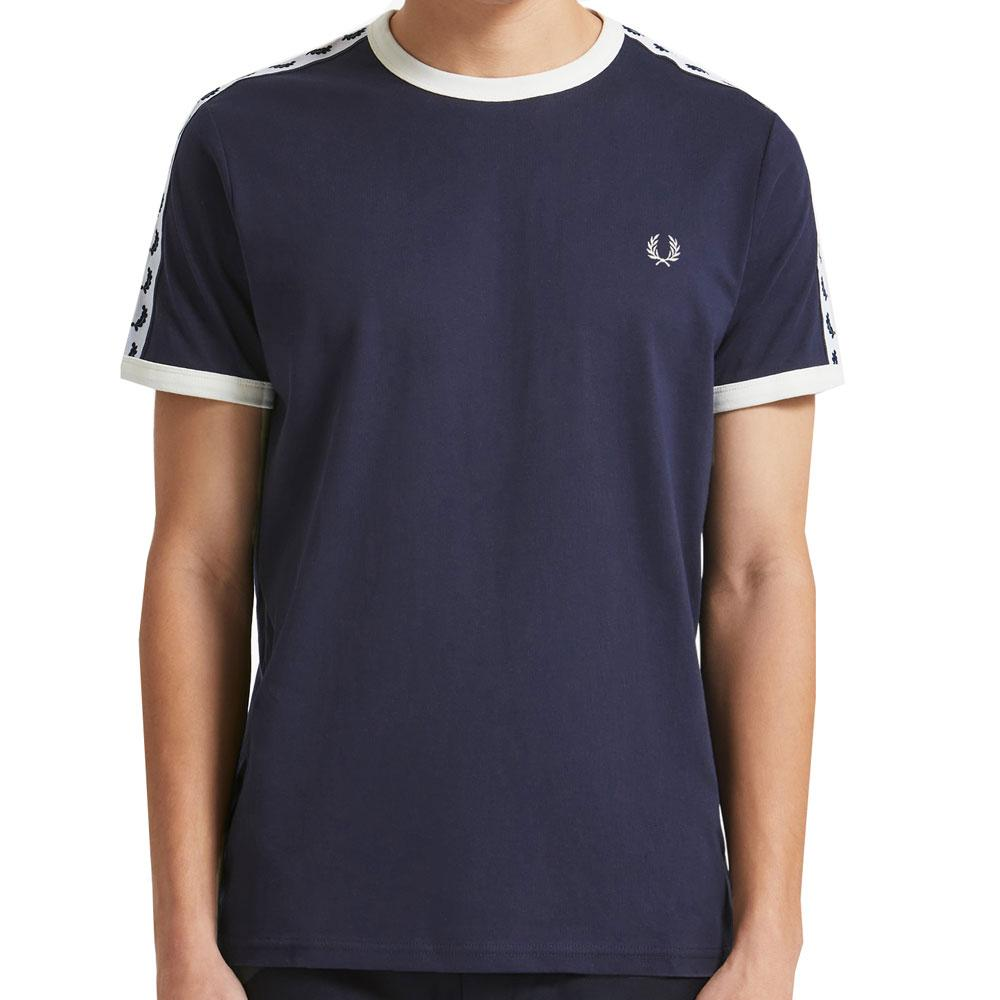 Fred Perry Taped Ringer T-Shirt -  Carbon Blue