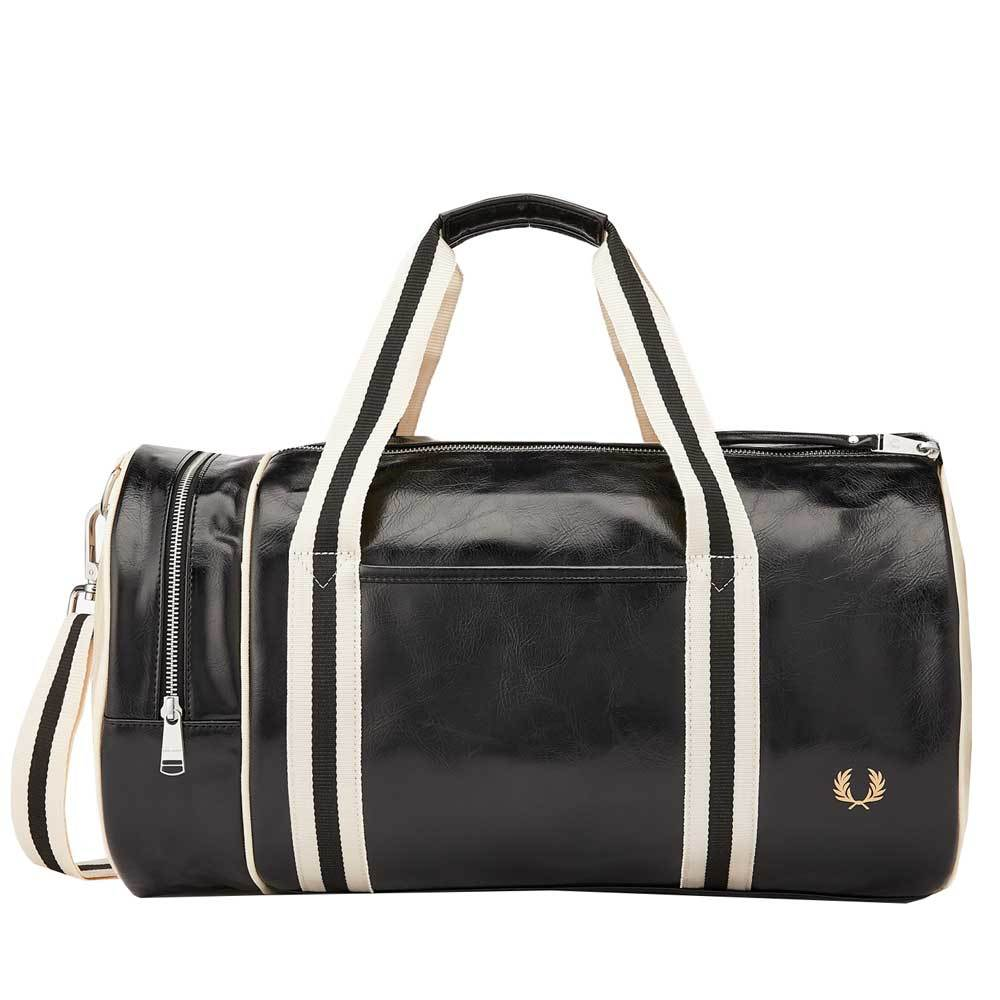 Fred Perry Classic Barrel Bag - Black L7220