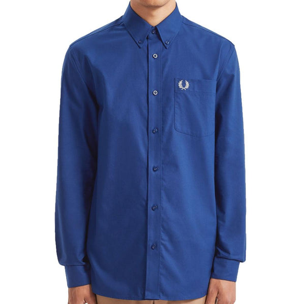 Fred Perry Oxford Shirt M7550 - Medieval Blue