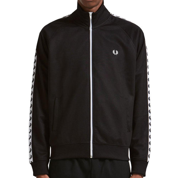 Fred Perry Sports Authentic Taped Track Jacket - Classic Black