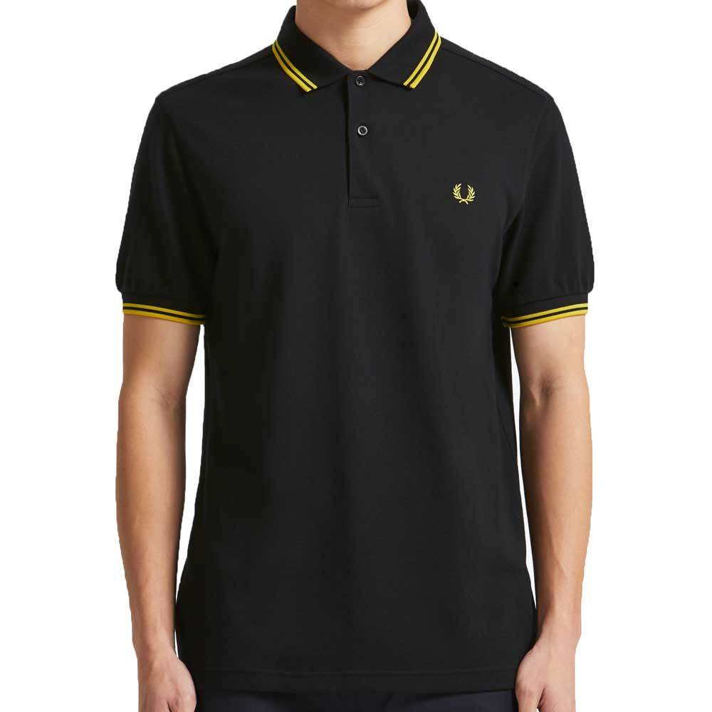 Fred Perry Tipped Polo Shirt M3600 - Black / Yellow