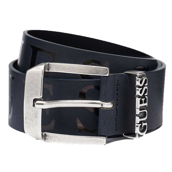 GUESS Logo Leather Belt  - Navy M0GZ56L0NN0