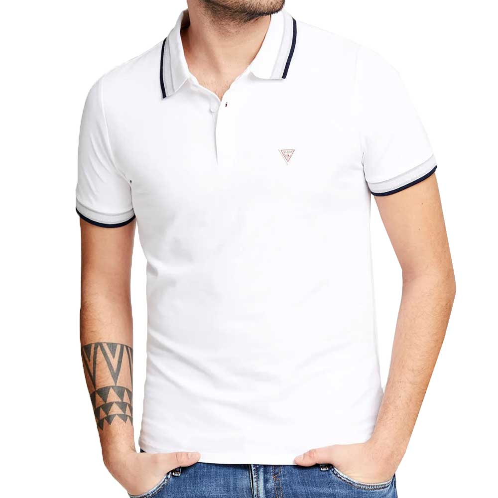 Guess Grady Polo Shirt - White M02P40K7O60